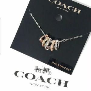 Coach signature rondell slider bracelet